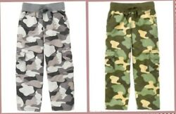 Gymboree Boys Kids Camo Drawstring Cargo Pants Green Gray SIZES 7 or 12 NWT $16.50