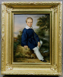 Seating Boy In Landscape With Fishing Rod And Fish Ertnest Sadoz Royal Prussia