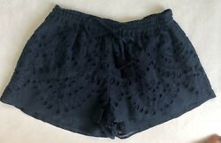 Love Sam Navy Embroidered Shorts Size S $29.40