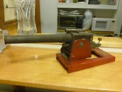 1930's Baldwin Manufacturing Co. Steel And Wood Toy Cannon Brooklyn Ny. Great