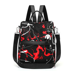 Women#x27;s Oxford Graffiti Backpacks High Quality Schoolbag For Girls Teenagers $12.22
