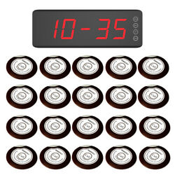 Singcall Wireless Waiter Service Calling Systems 20 Buttons, 1 Fixed Receiver