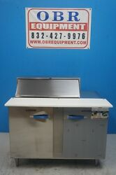 New Traulsen 48andrdquo 2 Section 14 Cu.ft. Refrigerated Prep Table Model Upt-488-lr