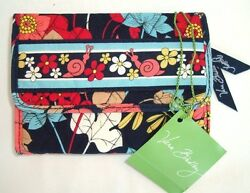 VERA BRADLEY Small Tri fold Euro Wallet - Happy Snails - New with Tag