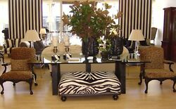 North Atlantic Dining Table Ebony Base /glass Top Available