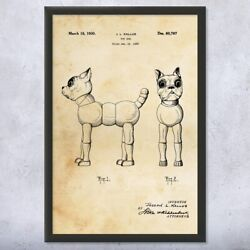 Framed Toy Terrier Dog Print Dog Lover Gift Toy Collector Animal Lover Dog Owner
