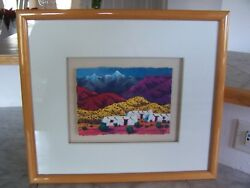 Vintage 1994 Todd Abbott Winters Framed Watercolor Painting