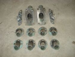 Vintage Chrome Over Brass Boat Hardware-anchor Cleats,rod Holders,railing Mounts