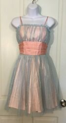 Betsey Johnson Evening Women's Size 2 Sleeveless Prom Party Dress gown pink $85.00