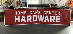 Vintage Huge 12andrsquo Original Home Care Center Hardware Store Gas Oil Porcelain Sign