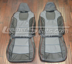 2008 - 2010 Subaru Wrx Custom Two Tone Leather Trimmed Upholstery Seat Covers