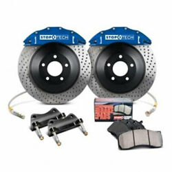 StopTech Rear Big Brake Kit Blue Calipers Drilled Rotors for 06-09 BMW M5M6