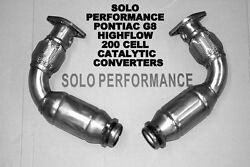 Solo Performance High Flow Catalytic Converters For Ponitac G8 American Muscle