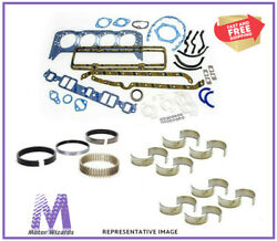 Ford 351w 5.8 Marine Engine Re-ring Rebuild Overhaul Kit Std Rot/1pc/non Or Efi