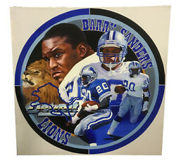 Terrence Fogarty Signed Original Barry Sanders Canvas Oil Painting Auto Coa 1/1