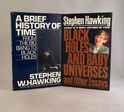 Stephen W. Hawking-2 Books-first/1st Editions-brief History And Black Holes-rare