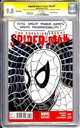 Superior Foes Of Spider-man 1 Cgc Ss 9.8 Stan Lee Quote Sketch By John Beatty