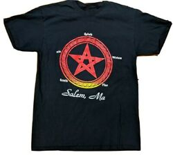 Salem, Ma Pentagram Shirt Spirit Water Fire Earth Air Witches Pentacle Occult