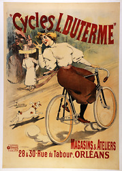 Cycles L. Duterme - Original Vintage Bicycle Poster - Cycling - Lourdey