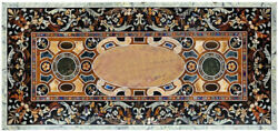 Rectangle Marble Table Top Semi Precious Stone Handicraft Inlay Work Pietra Dura