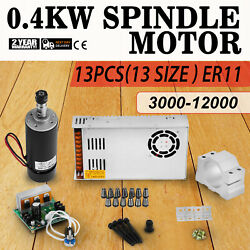 Cnc 0.4kw Spindle Motor Er11 And Mach3 Pwm Controller And Mount Cheap Kit Engraving