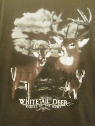 Whitetail Deer brown graphic XL t shirt thrill of the hunt