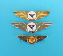 Croatia Airlines .... Nice Old And Rare Lot Of 3. Official Pilot Wings Badge