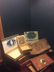 Vintage Cigar Boxes Lot Of 7 Extremely Rare, 1920's, Selection 3