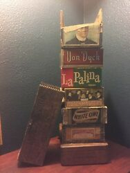 Vintage Cigar Boxes Lot Of 8 Rare 1950and039s Selection 2
