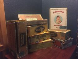 Vintage Cigar Boxes Lot Of 8 Rare, 1950's, Selection 1