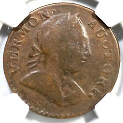 1788 Rr-22 R-5 Ngc Vf Details Bust Right Vermont Colonial Copper Coin Ex Newman