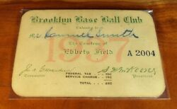 1937 Brooklyn Dodgers Ticket The Hindenburg Game Lavagetto Manush Ebbets Debut