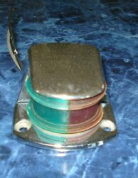 Stainless Steel Green And Red Boat Marker Light