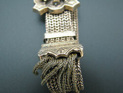 C395 Victorian Gold Filled Wedding Mesh Slide Bracelet With Baroque Seed Pearls