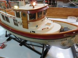 Dumas Victory Tug Boat 1225 Finished Interior Lights Anchor Pick Up Only