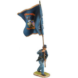 Acw116 Union Sergeant Standard Bearer - 147th Ny Vols Regt Color By First Legion