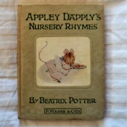 Apply Dapply's Nursery Rhymes Beatrix Potter Vintage Book F. Warne And Co. 1917