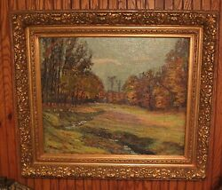 Edwin Oswald Wingert Antique Impressionist Oil Painting W Gilt Frame, Listed Art