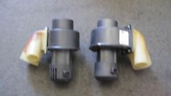 Porsche 911 84-89 Under Dash Blower Motor Pair Left And Right W/connecting Pieces