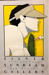 Rare Signed Numbered 111/250 Patrick Nagel 1980and039s Pop Art Print Silkscreen 80and039s