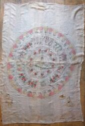 Very Rare Antique Buddhist Mandala with Buddha Painting Silk from Burma Burmese
