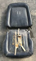 Vintage Ford Mustang Seat - Black Leather