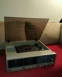 Vintage Montgomery Ward Stereo Turntable Dual Cassette Works
