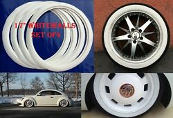Universal 17 White Wall Port A Wall Set 4 Fits Vw New Beetle Ford Chevyandmore