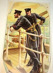 Antique Victorian American Military Litho Ariosa Coffee Advertising Trade Card