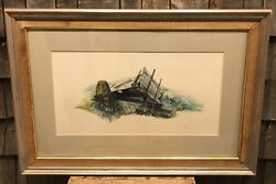 Antique Original Charles Henry Gifford American 1839-1904 Watercolor Signed