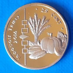 Iroquois Indian Tribe 25 Cent 2016 Unc Corn Pumpkin Wolf Usa Unusual Coinage