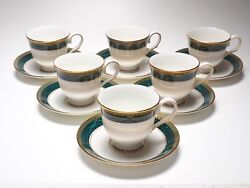 Set Of 6 Lenox Classic Edition Pattern Cups And Saucers 320f