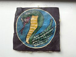 Wwii Bomber Jacket /flight Jacket Orig. Hand Painted Patch Cobra W/fangs Out