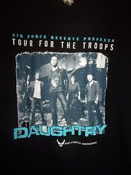 Us Air Force Fort Bliss Tx Black L T Shirt Daughtry Band Tour For The Troops